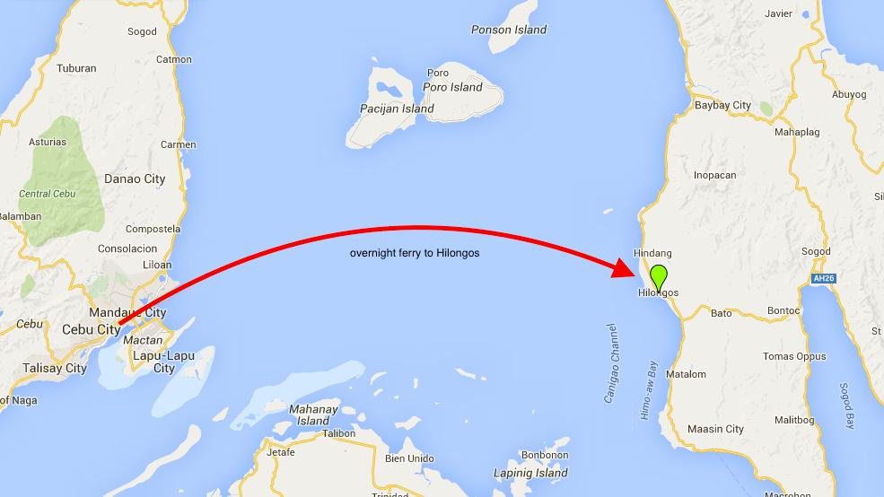 map to Hilongos