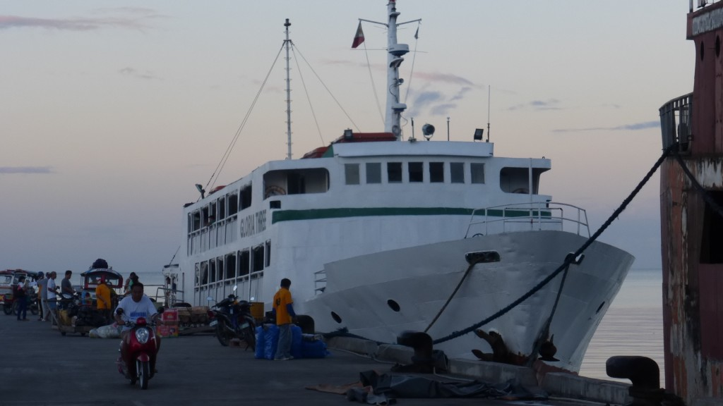 Gloria Three ferry in HIlongos