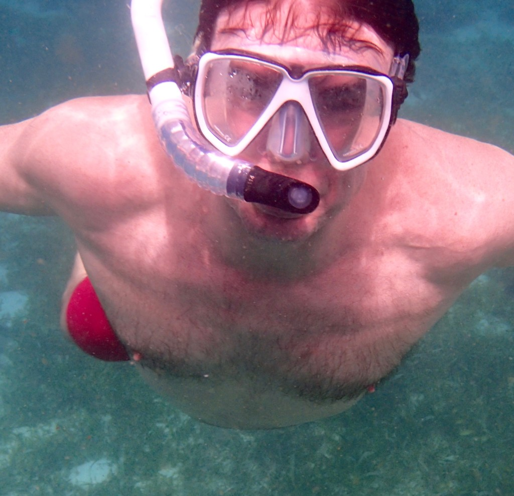 Doug Stein underwater in the Philippines