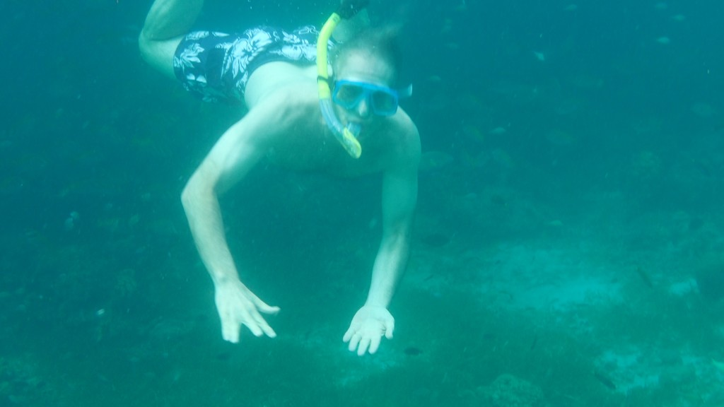 John Curington swimming in the Philippines