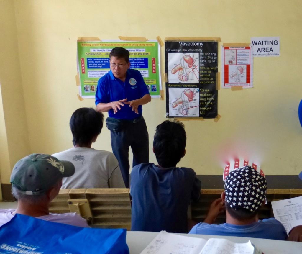 Bob Kiamco doing counseling in Danao