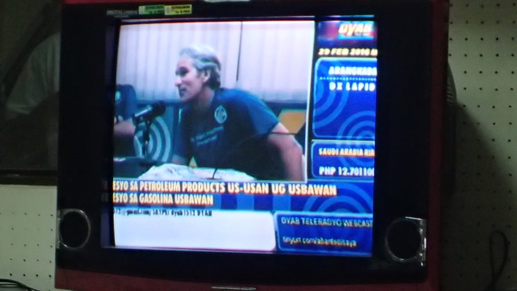 John Curington MD on TV in the Philippines (ABS-CBN Broadcast Center, North Road, Jagobiao, Mandaue City)