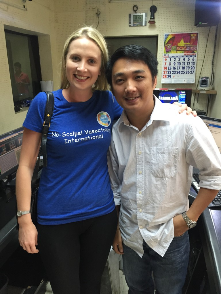 Lucy and TV guy in the Philippines