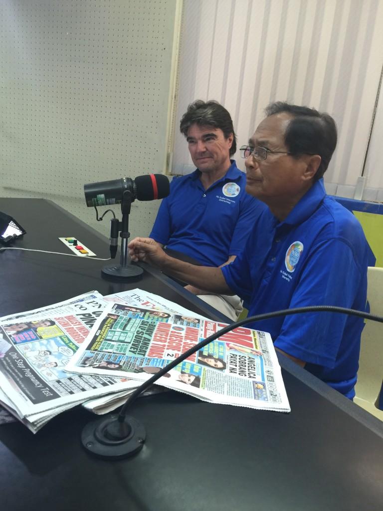 Ramon Suarez on the air at DYAB Cebu