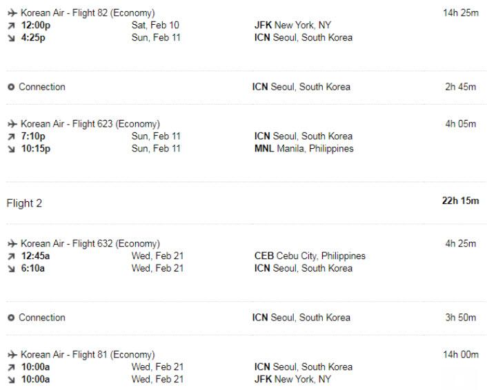 Seemas flights